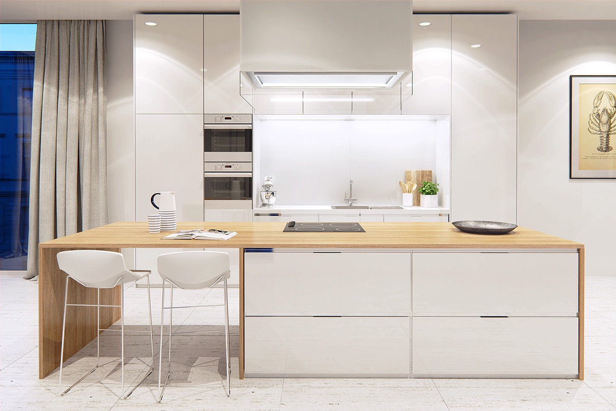 Nicolas JOUSLIN Modern White Kitchen Design