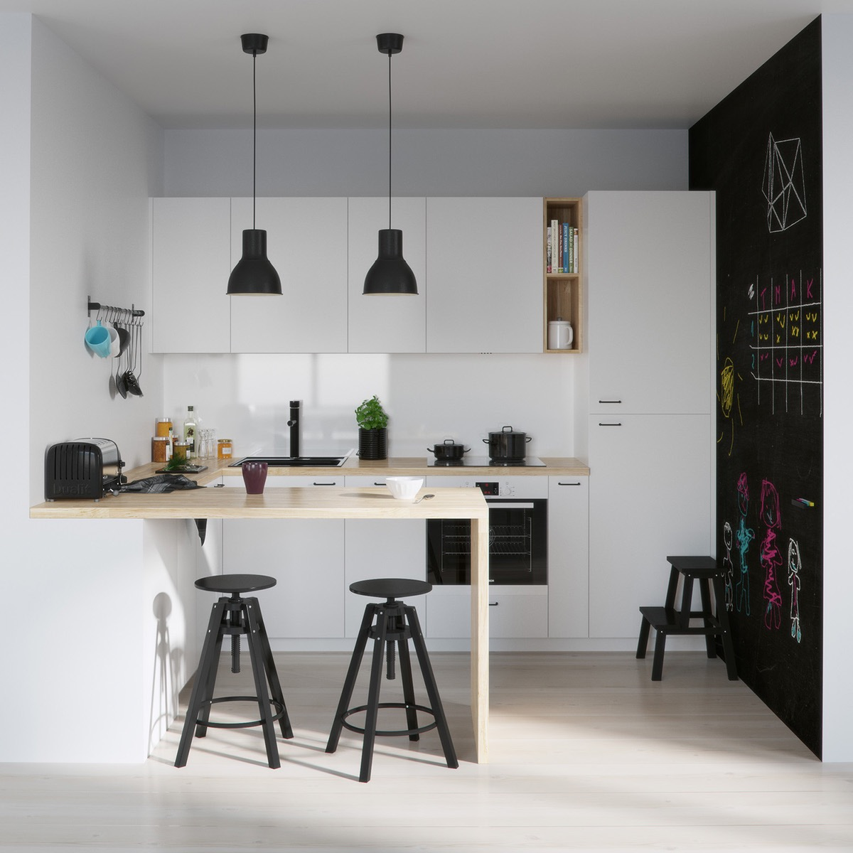 Modern White Kitchen Designs 20 Awesome White And Wood Kitchen Design Ideas Roohome Designs