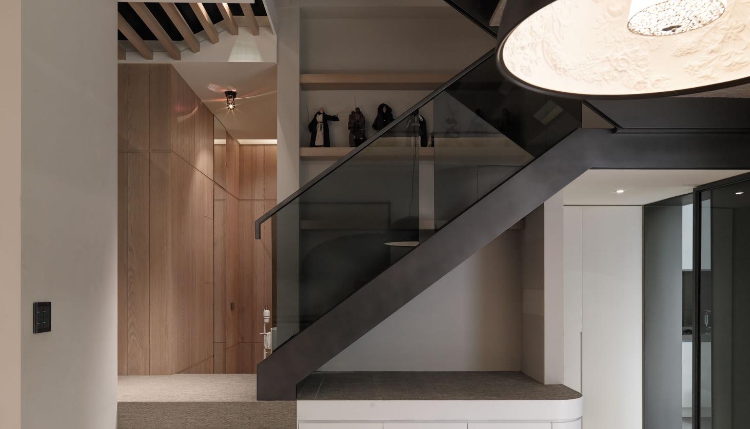 Black modern staircase