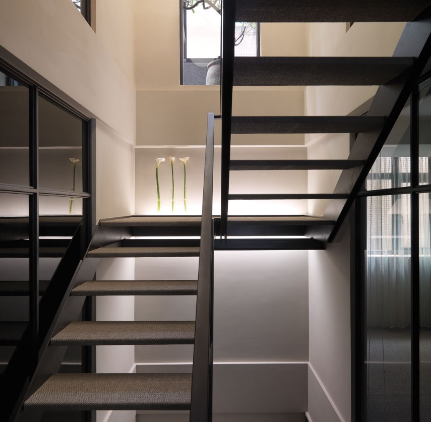 Black modern staircase