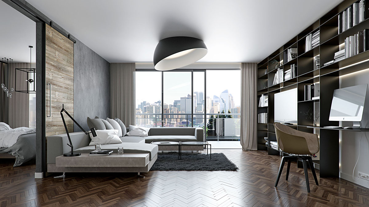 Awesome Gray Apartment Decorating Ideas RooHome Designs Plans