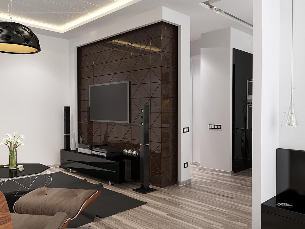 Gray apartment interior design