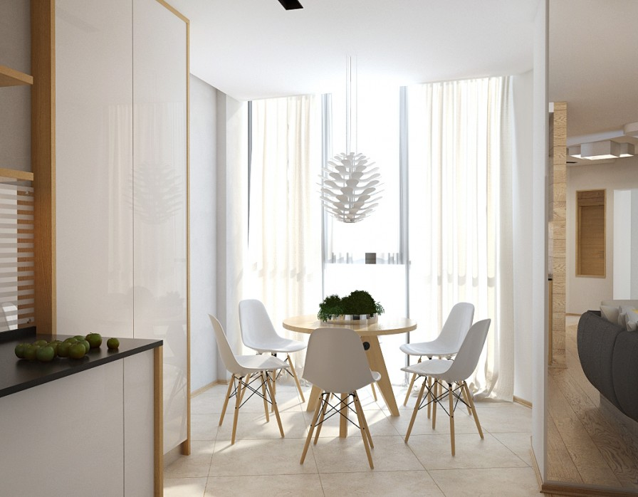 Scandinavian apartment interior design