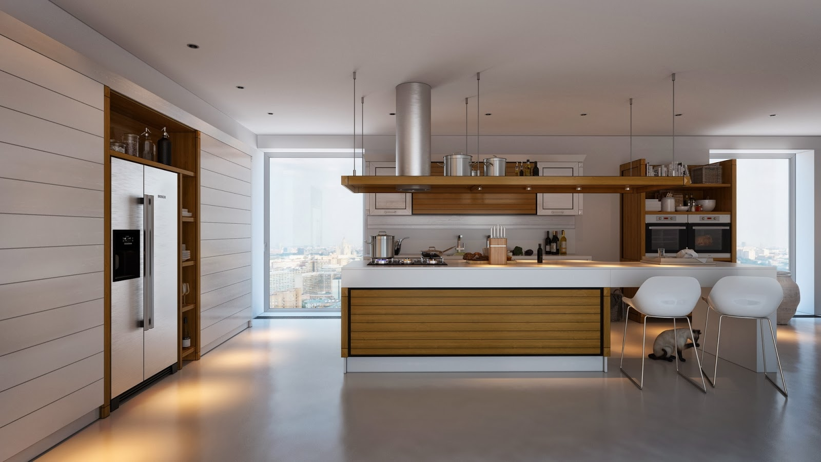2 Minimalist Kitchen Design That Will Stunning You By Artem Evstigneev Roohome Designs Plans