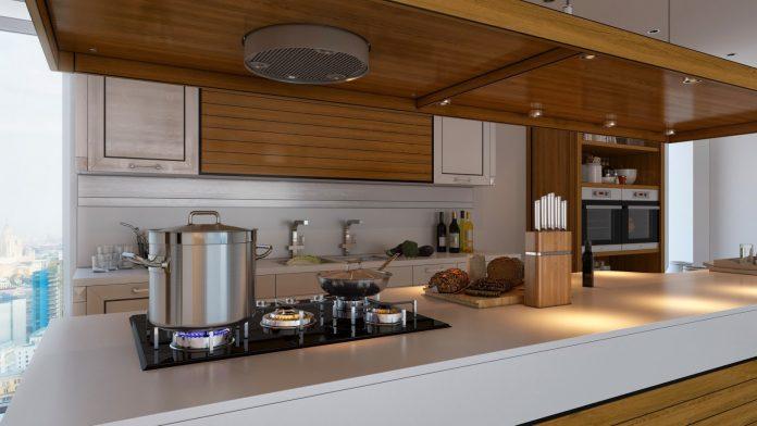 Brown kitchen interior design