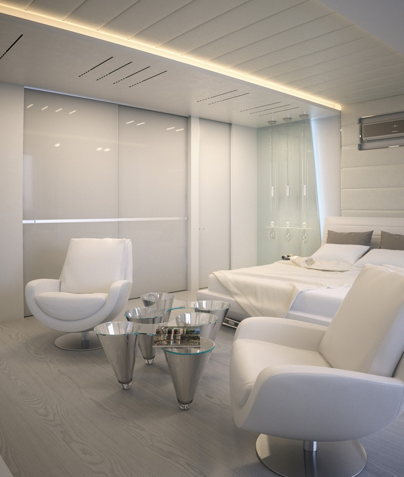 White apartment interior design that will makes you for Design bedroom sitting area