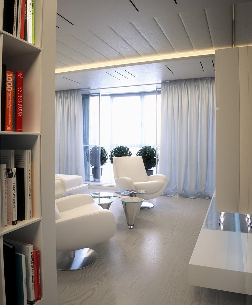 White apartment interior design ideas