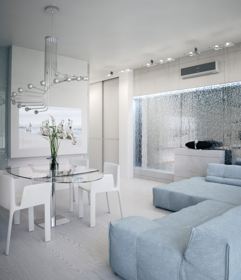 White apartment interior design that will makes you for Interior designs by ria