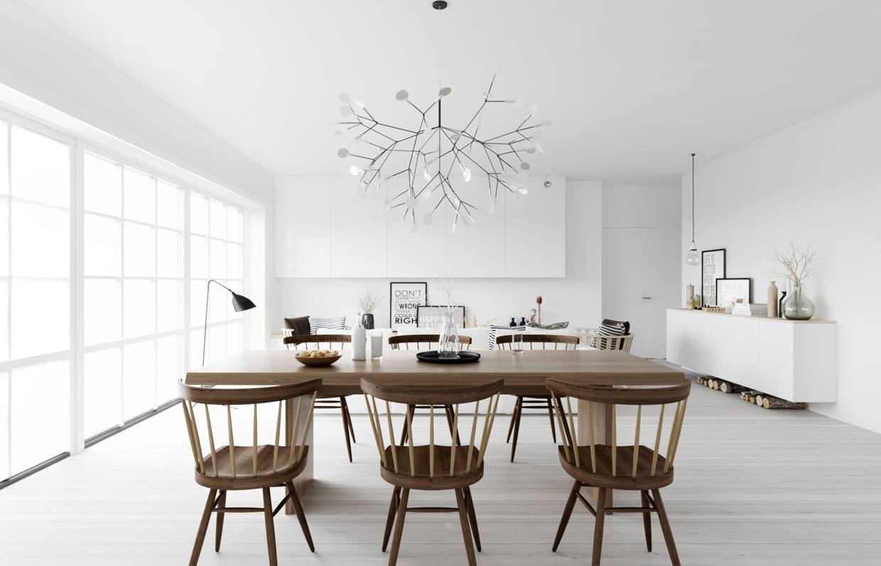 white dining room color ideas