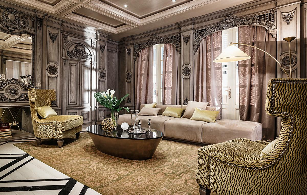 Luxurious living room interior design