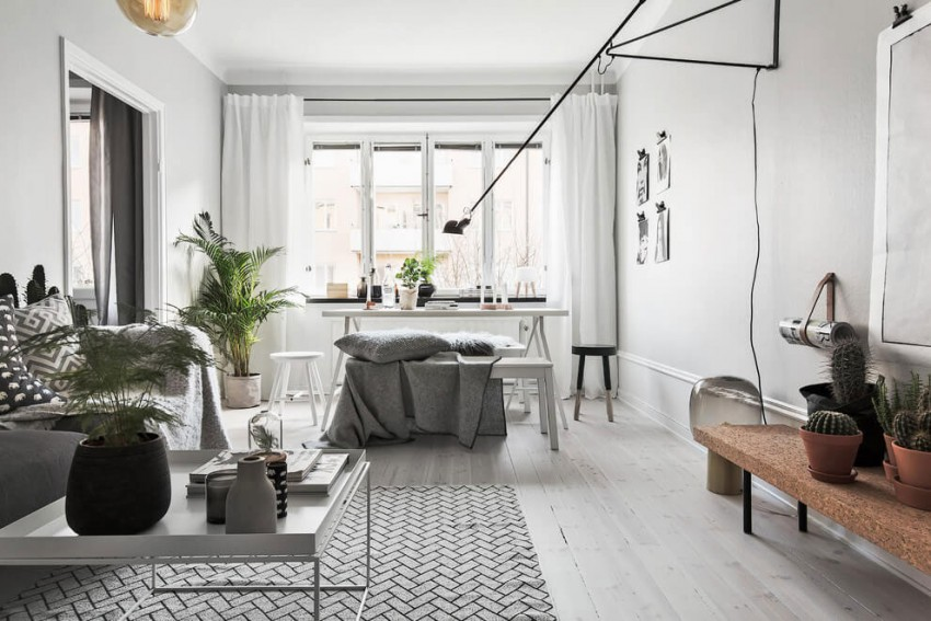 Fabulous Scandinavian Apartment With White Interior Design Style ...