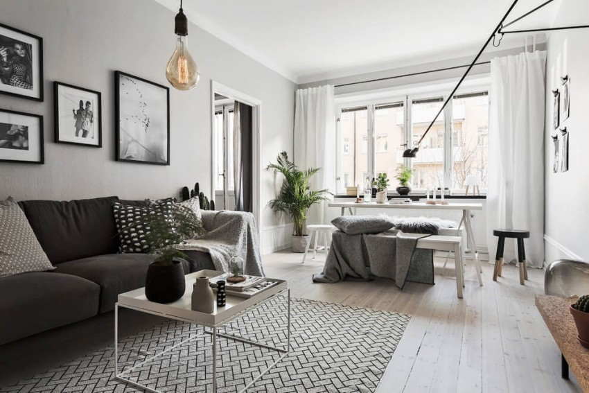 Fabulous Scandinavian Apartment With White Interior Design