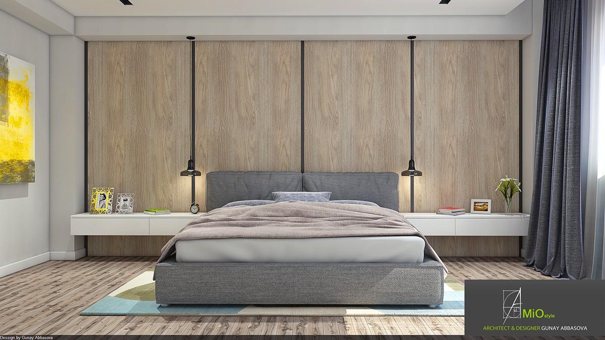 wood wall bedroom theme