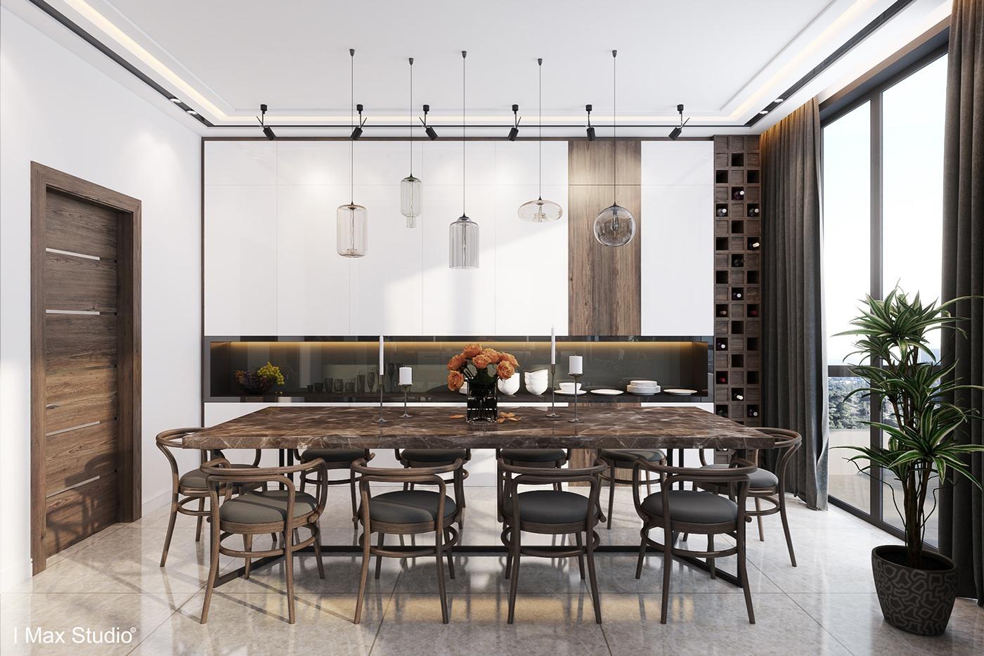 7 pretentious dining room interior design style roohome designs plans - Luxury apartment interior design ideas ...