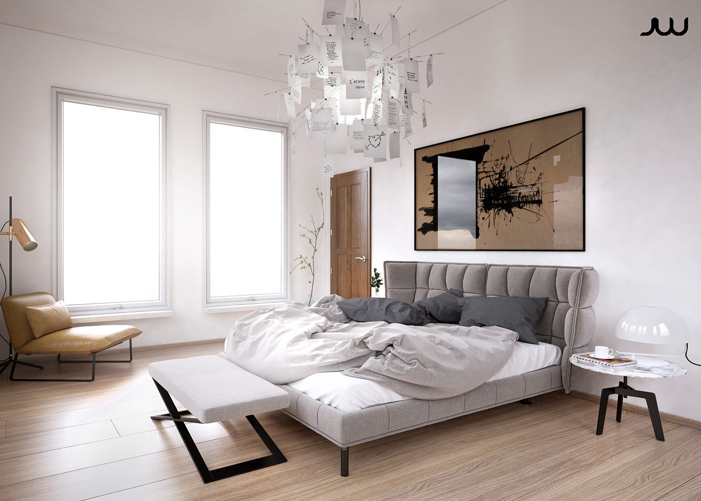 Modern bedroom design and decorating ideas