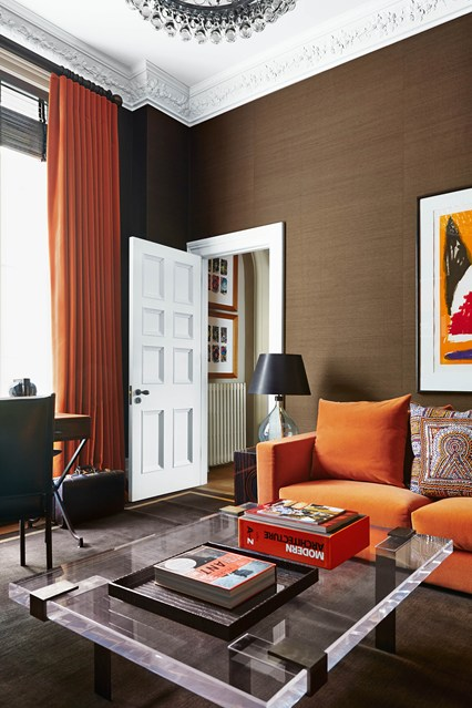 orange and black living room ideas modern living room design with color concept roohome 25311
