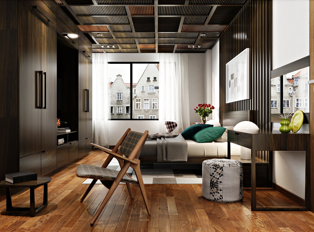Wood bedroom theme
