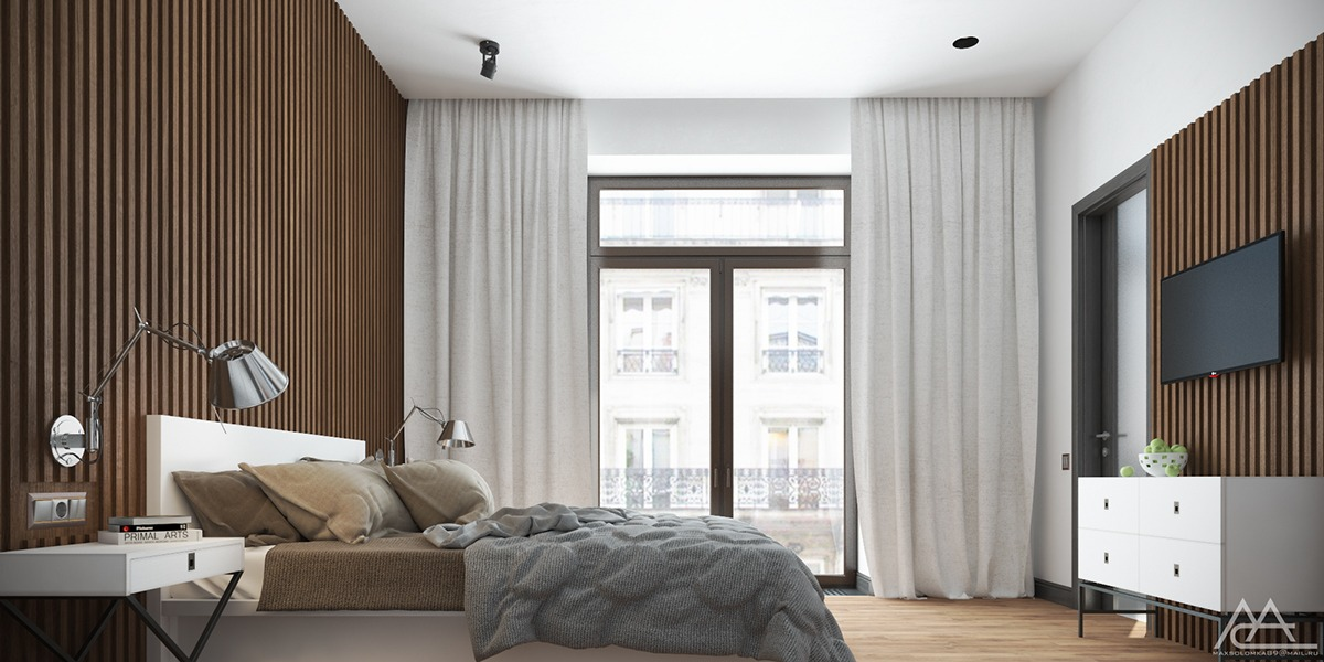 wood interior bedroom design