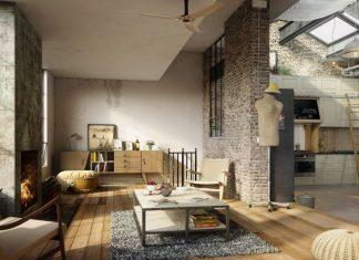 Industrial living room design ideas