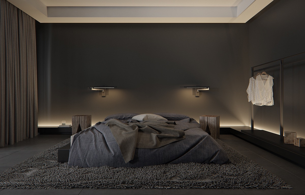 Dark Styles 6 Bedroom Decorating Ideas That Quiet And Soft on minimalist small room