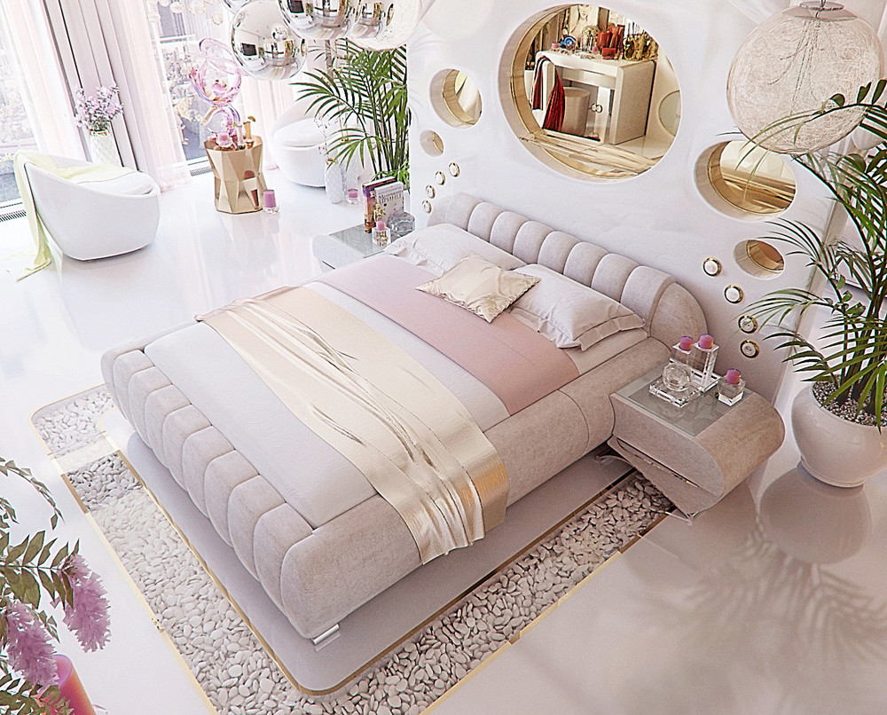 Luxury bedroom interior design that will make any woman for Bedroom design maker