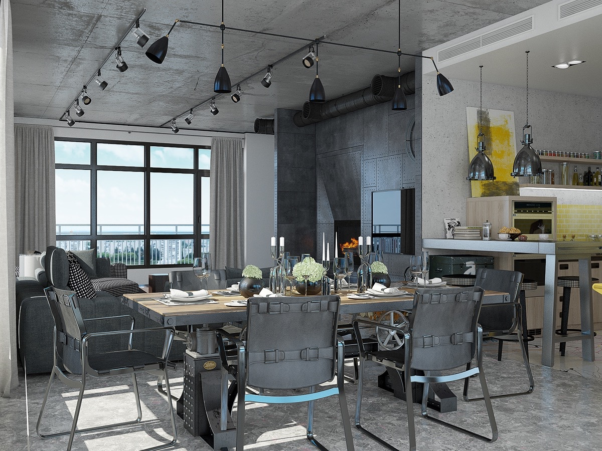 Industrial loft apartment design ideas