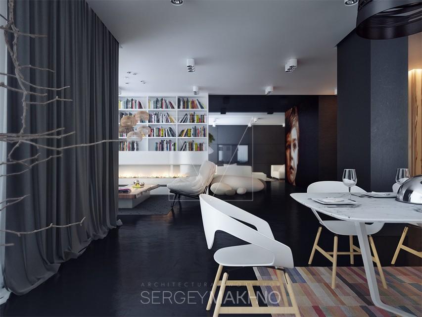 Dark apartment style