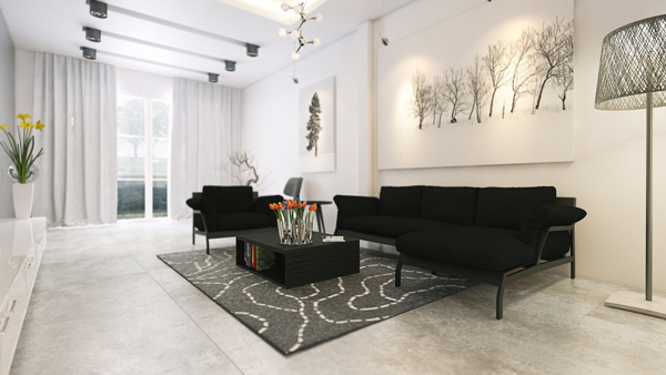 living room monochrome designs