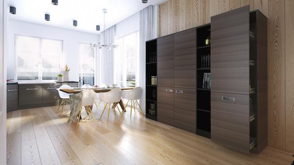 open plan minimalist design idea