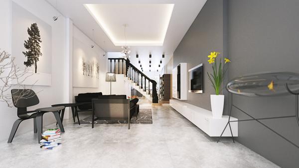 minimalist interior design for living rooom