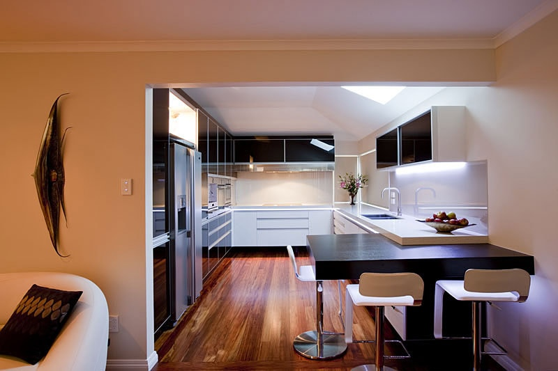 Modern light decoration for a kitchen