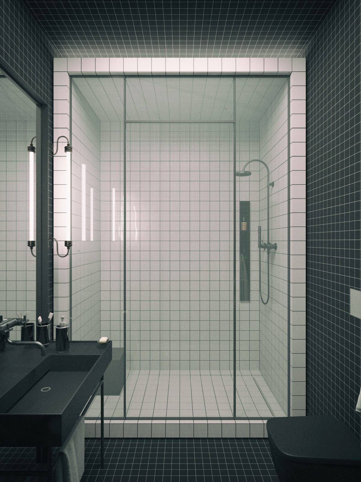 simple bathroom features