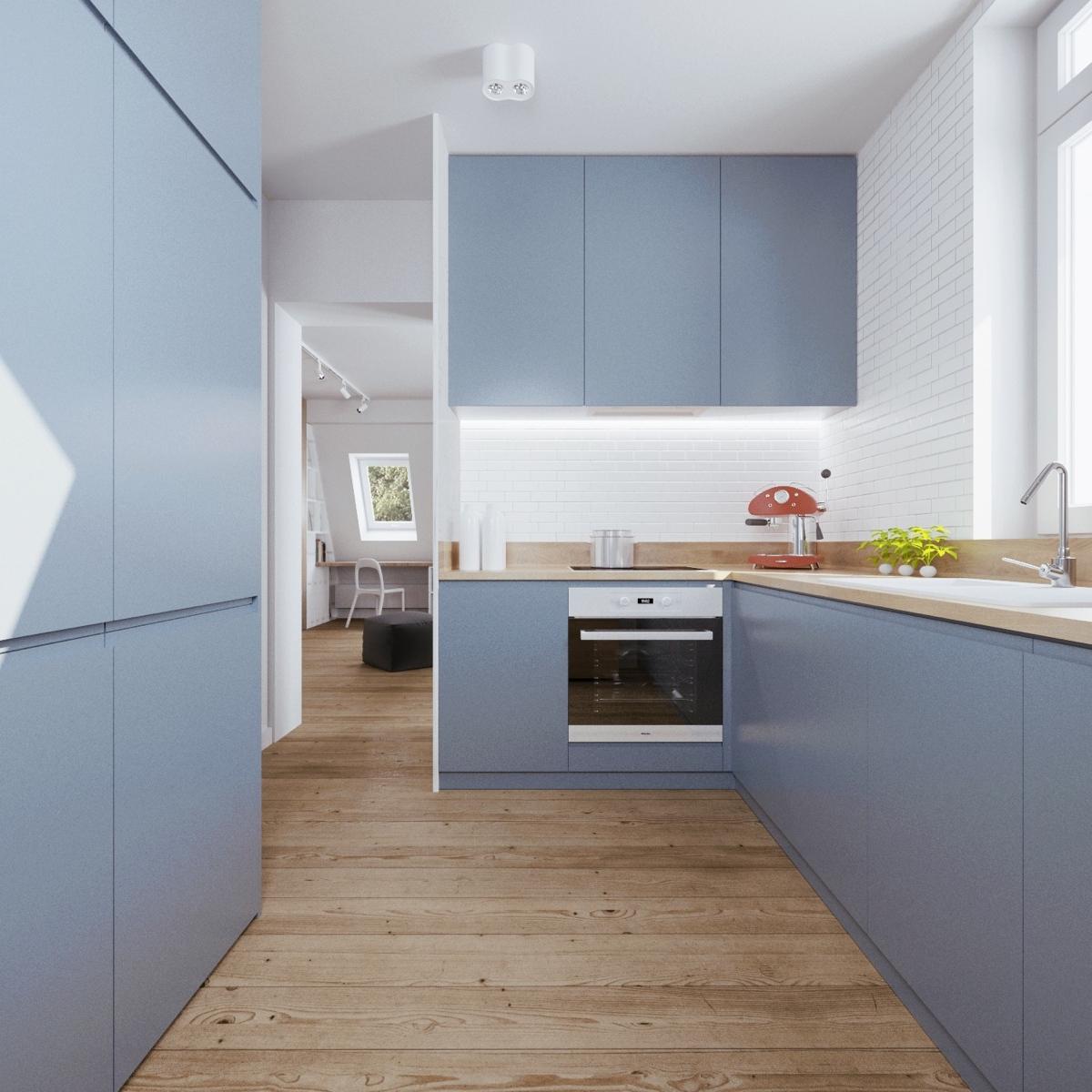 Minimalist Kitchen Design: Minimalist Apartment Design With Soft Color Scheme