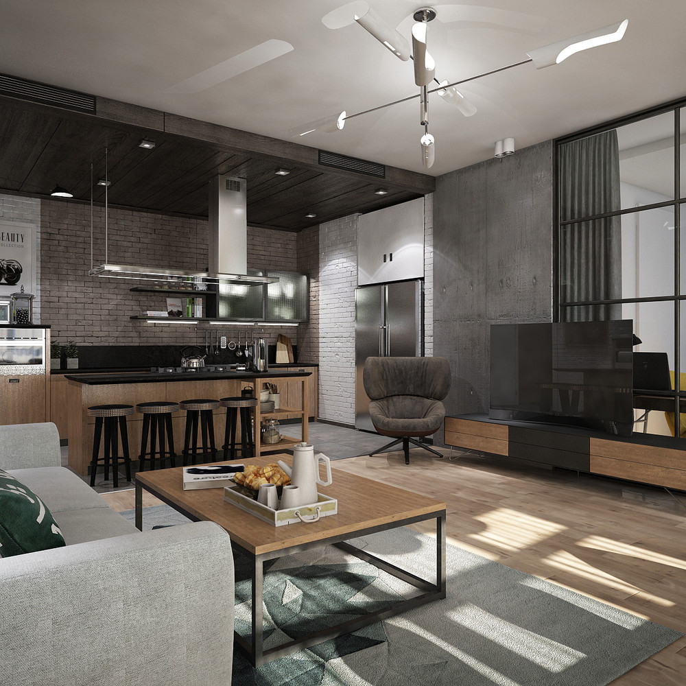 Awesome New York Style Apartment Interior Design - RooHome ...