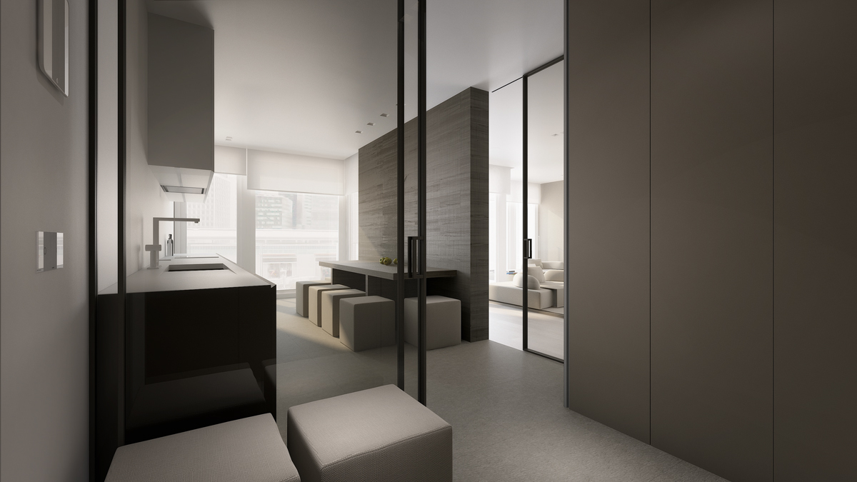 Minimalist gray interior design