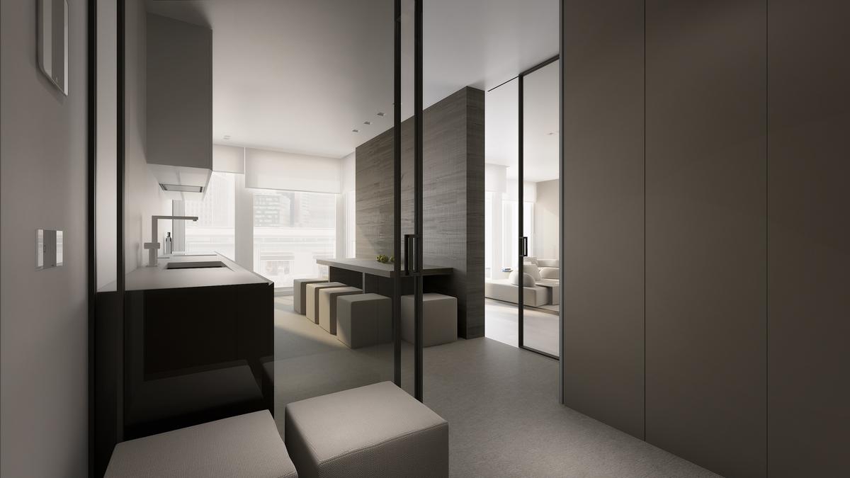 Minimalist gray interior design