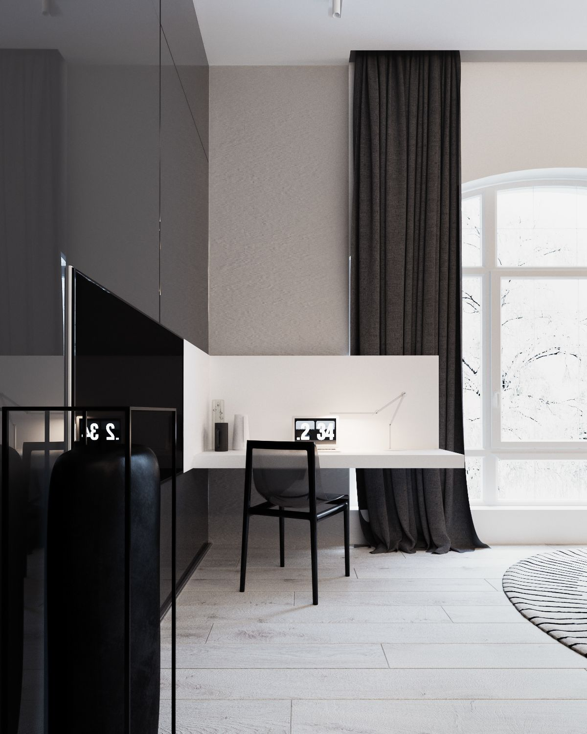 Modern interior style for stylish apartment