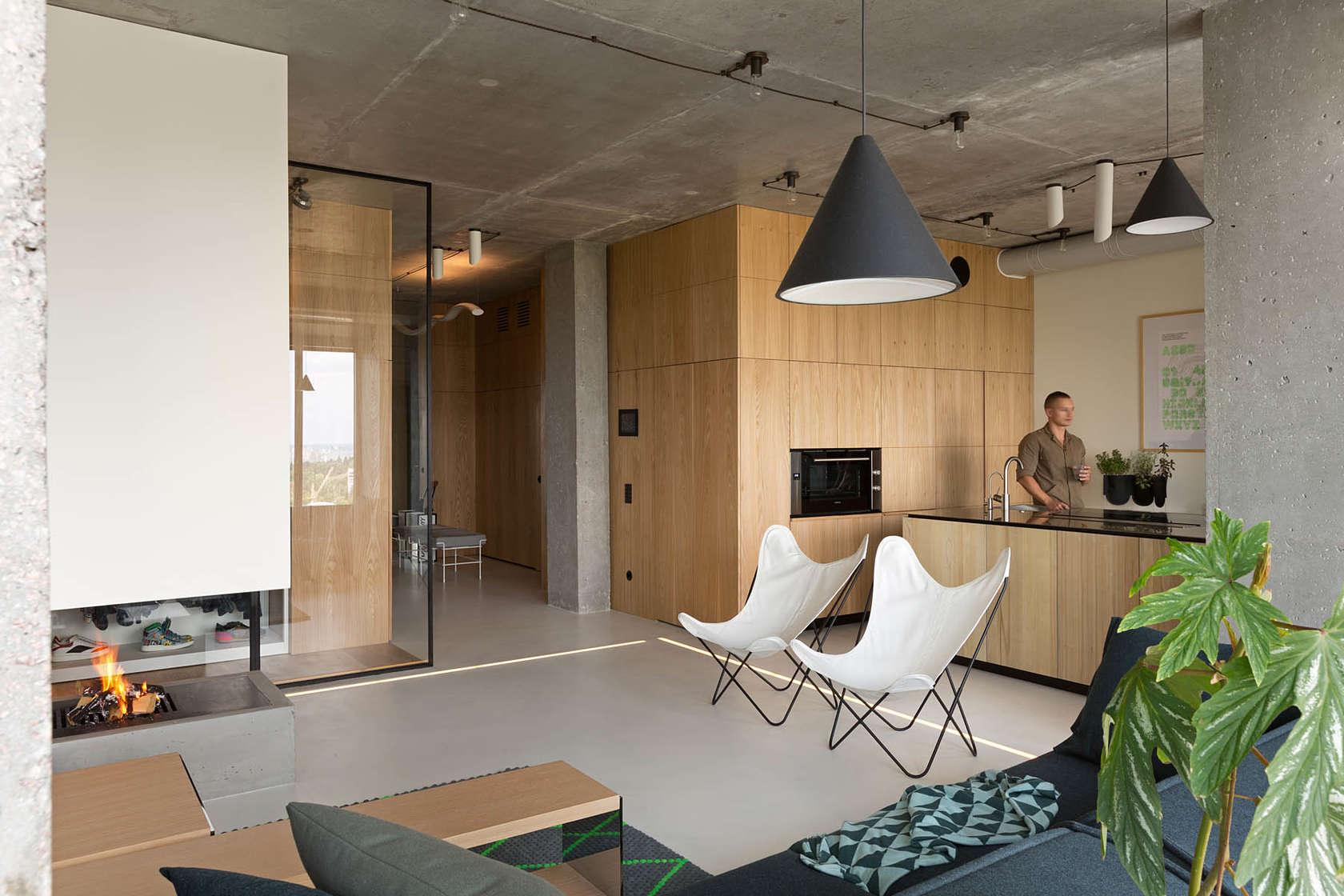 Inspiring penthouse design with minimalist concept