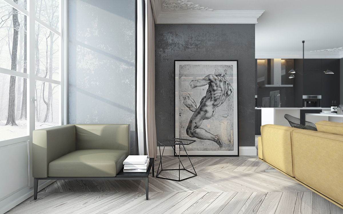 Artistic Living Room Artistic Living Room Design By Elena Ovcharenko Roohome