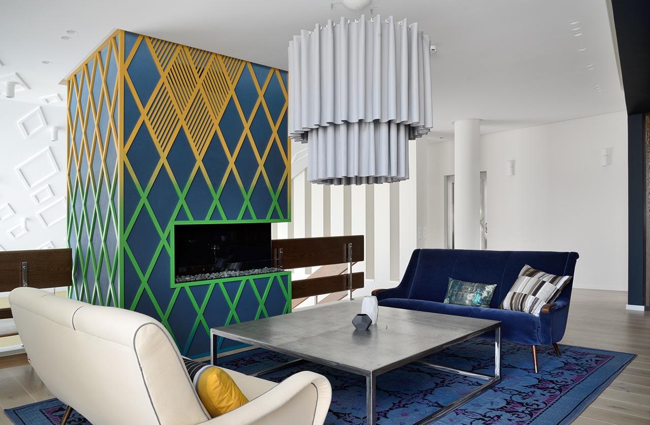 Colorful house design interior