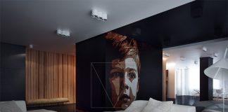dark apartment interior