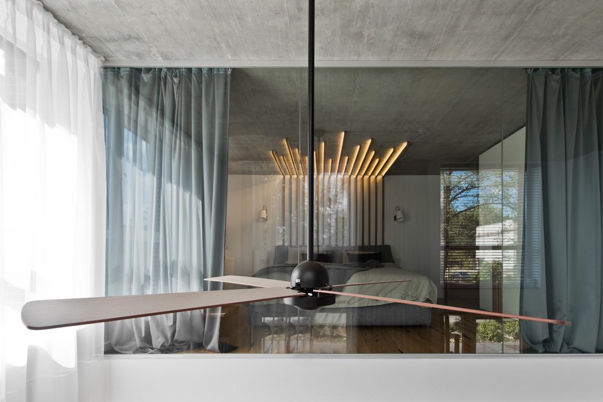 Scandinavian loft bedroom design