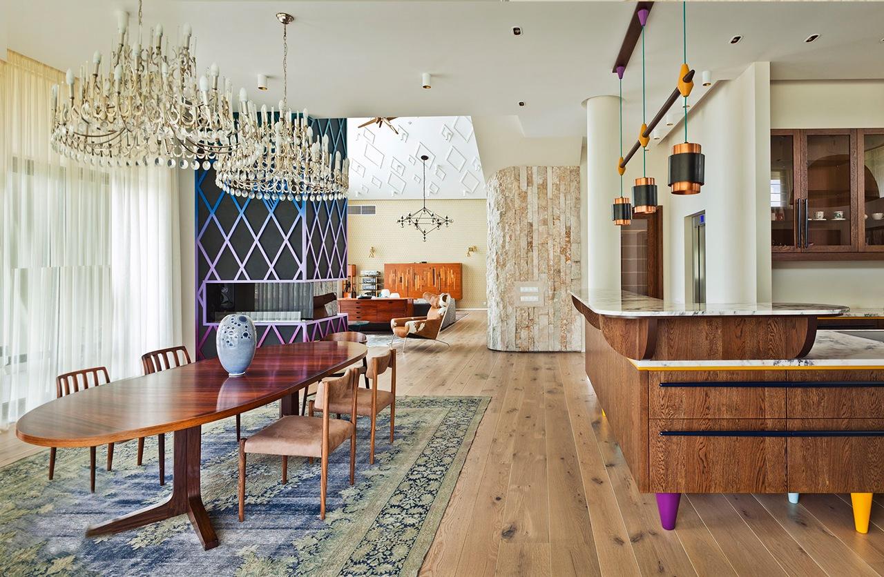 Colorful house interior design