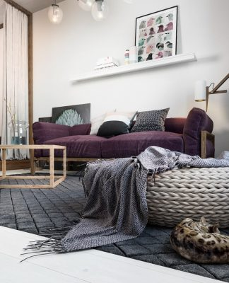 Small apartment design with Scandinavian style