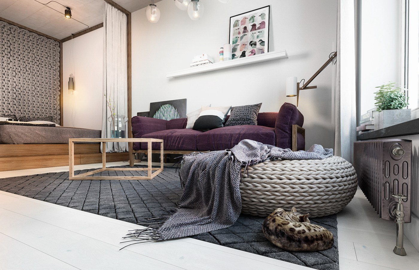 Small apartment design with scandinavian style that looks for Apartment design inspiration