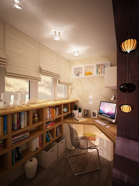 Creative workspace design in small space