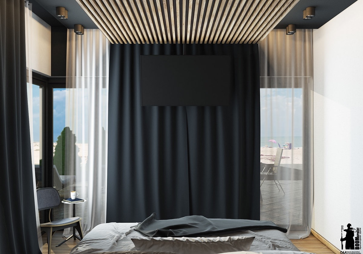 Black bedroom themes