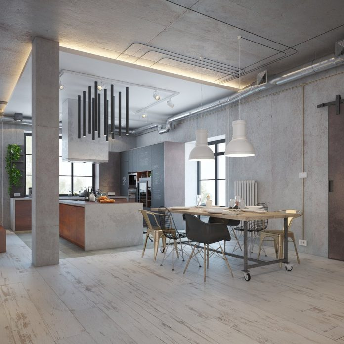 Industrial dining room design