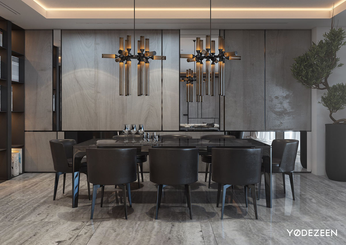 Luxurious dining room interior style
