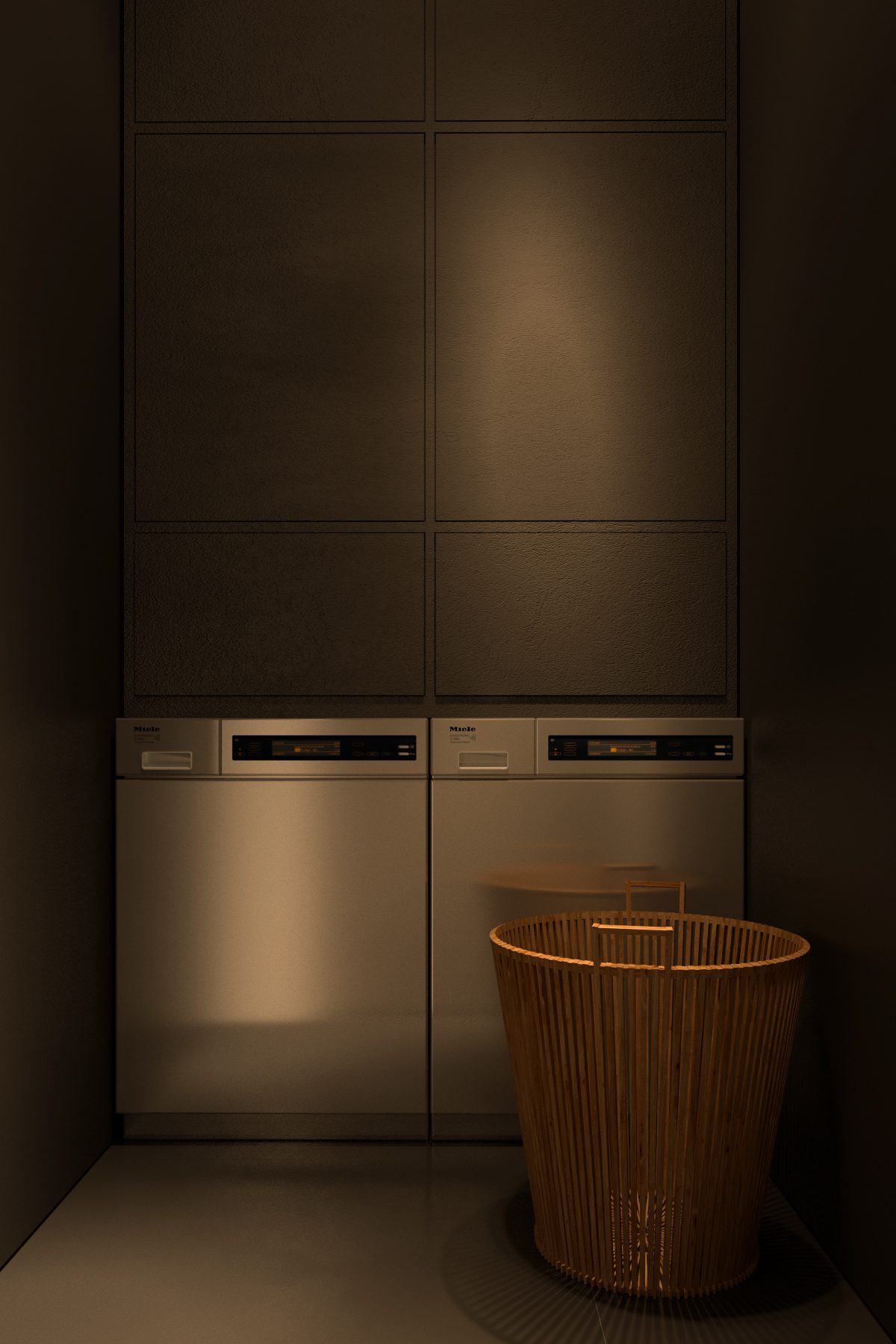 Laundry room design at home